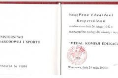 Kasperski_Medal-KEN_2004
