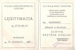 Kasperski_Zloty-Krzyz_Zaslugi_1988