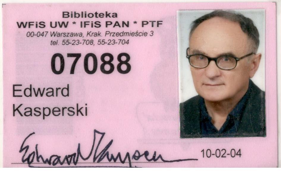 Legitymacje, karty biblioteczne